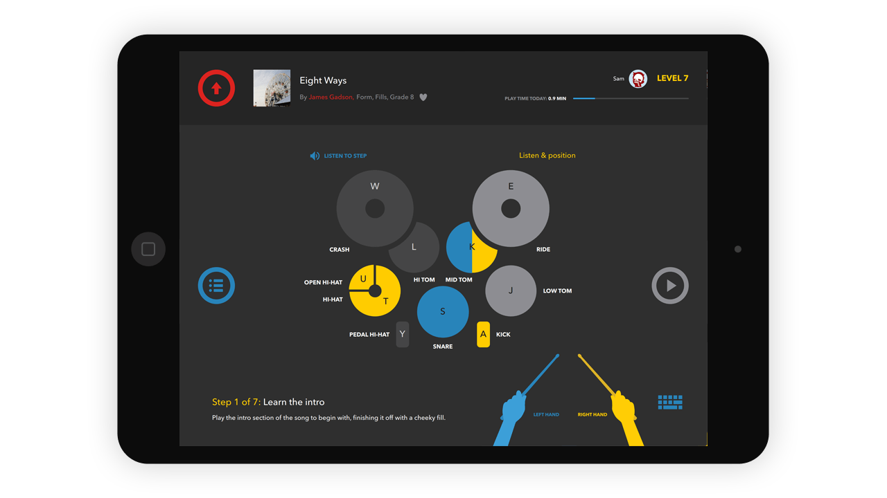 Melodics is also available to subscribers on iPad for you to create the ultimate setup.