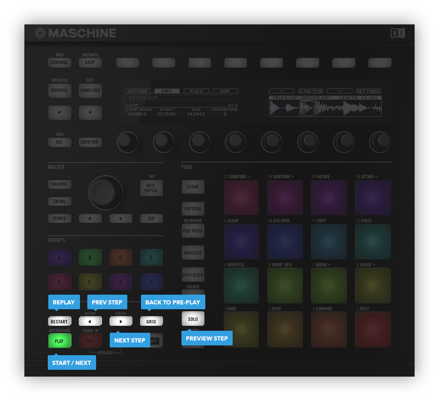 Native Instruments Maschine Mk2 hardware controls