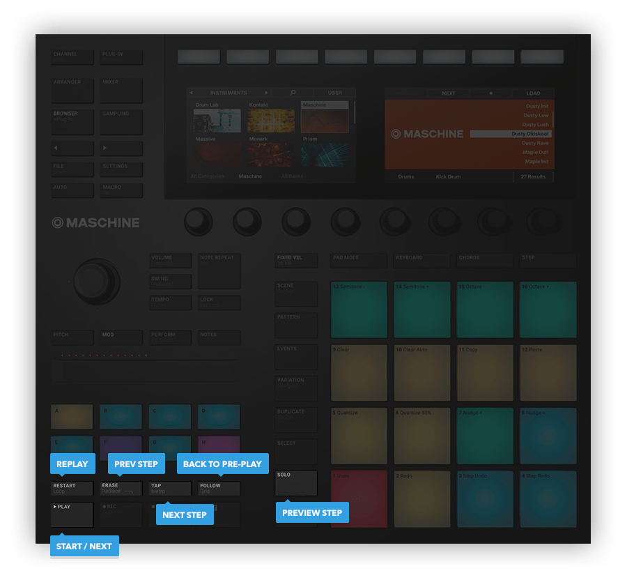 Native Instruments Maschine Mk3 hardware controls