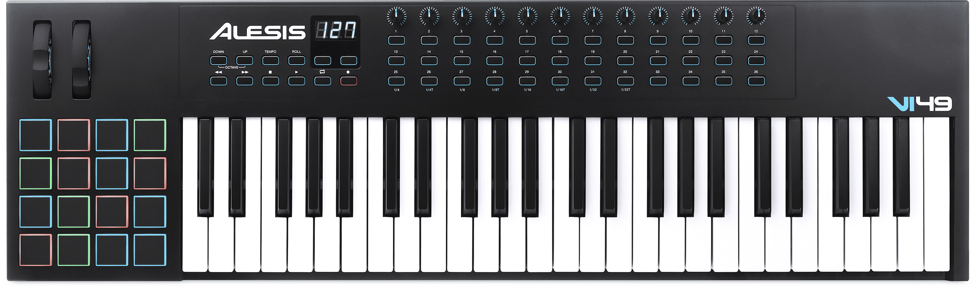 Any MIDI capable keyboard, pad controller, or drum kit.